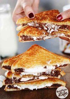 14 Dinge, die Du unbedingt mit Nutella machen musst, bevor Du stirbst  unter anderem Nutella-Marshmellow-Toast