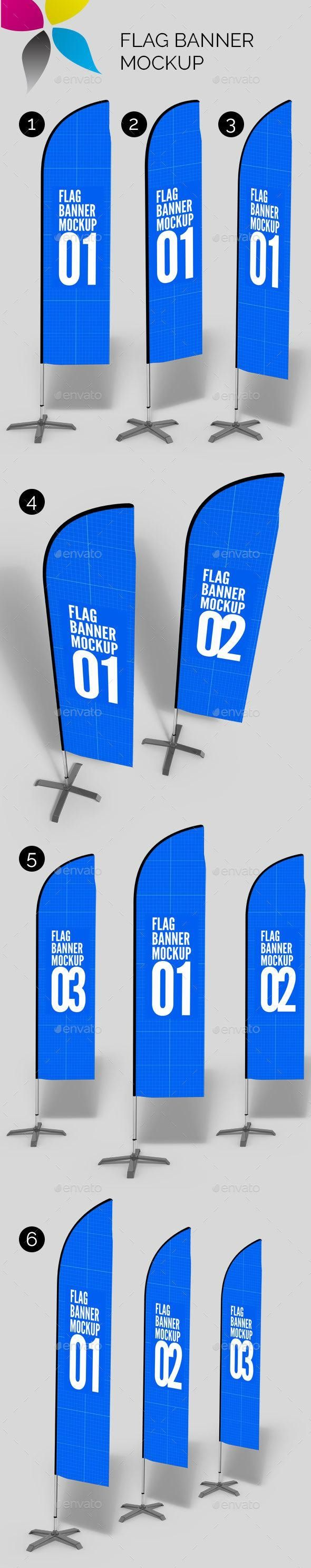 Flag Banner Mockup Flag Banners Graphic Design Templates Mockup Photoshop