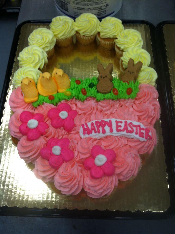 35 best my cakes images on pinterest cake cookies and food cakes pink easter basket cupcake cake negle Gallery