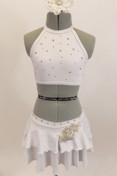 Pure, White & Silver, 2-Piece Dance Costume, For Sale – Once More From The Top