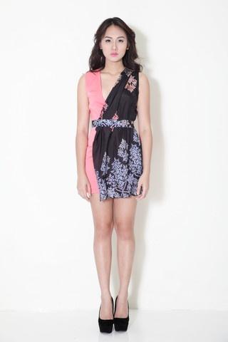 Batik versatile wrap dress