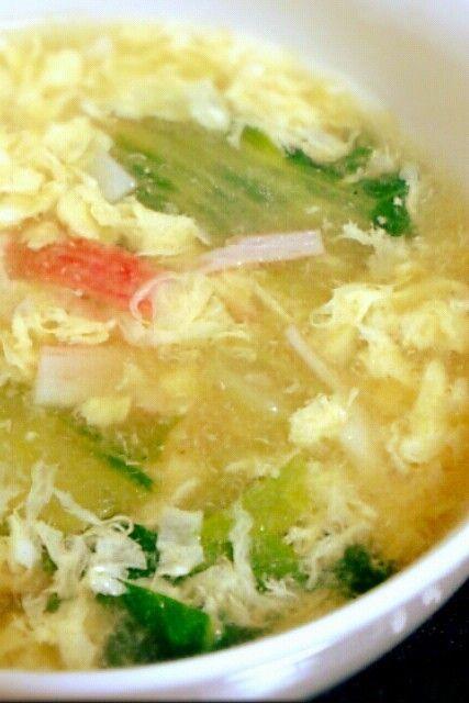 卵ふわふわ♡チンゲン菜の中華スープ by まこじょママ