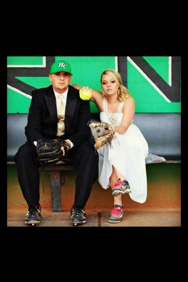 Softball Players Wedding