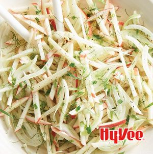 Who says slaw has to be made with cabbage? Try Crunchy Apple and Fennel Slaw with roast pork or even on top of pulled chicken or pork.
