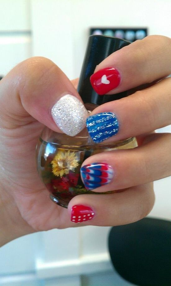 4th of July gel nails | Nails / All Light Elegance Gel (4th of July inspired*)