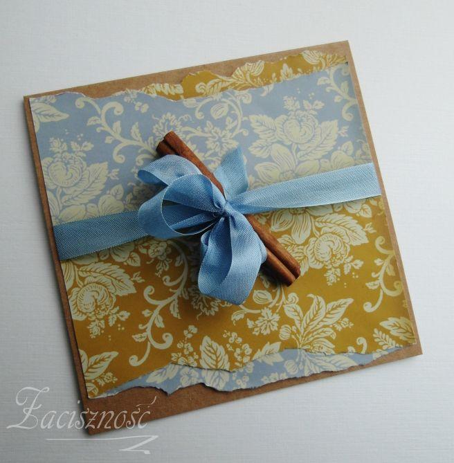 Kartka świąteczna z cynamonem/ Handmade Christmas card with cinnamon