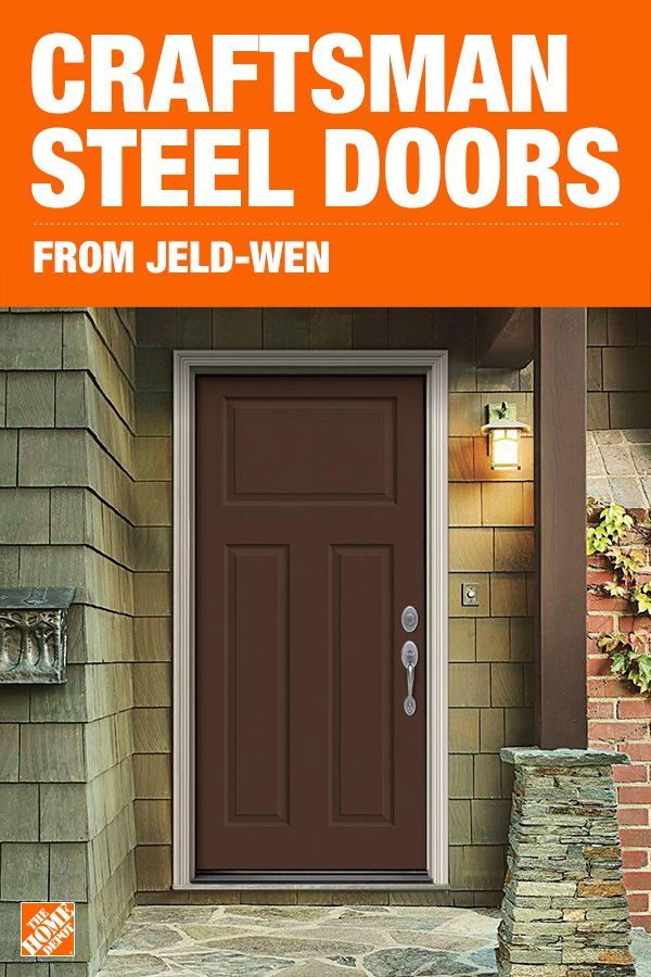 Choose an entry door that creates an upscale look, adding architectural interest for increased curb appeal. Not only are these contemporary steel doors beautiful, they're strong, secure and built to prevent water absorption and resist rust to enhance your home for many years. Click to shop Craftsman Steel Entry Doors from JELD-WEN.