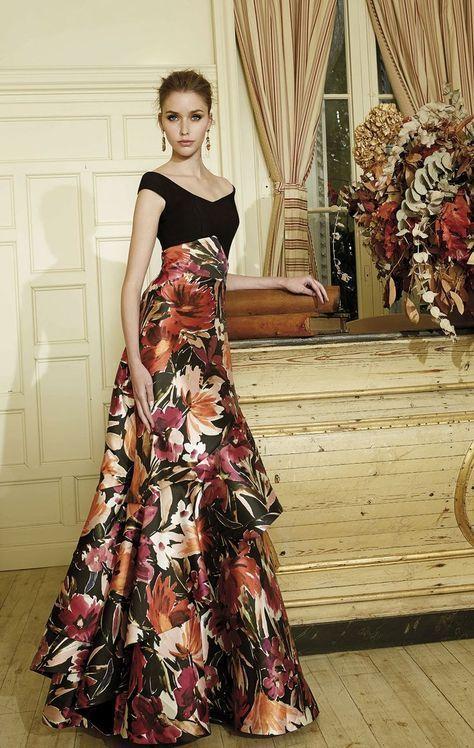 vestido de fiesta de patricia avendaño en eva novias madrid. vestido