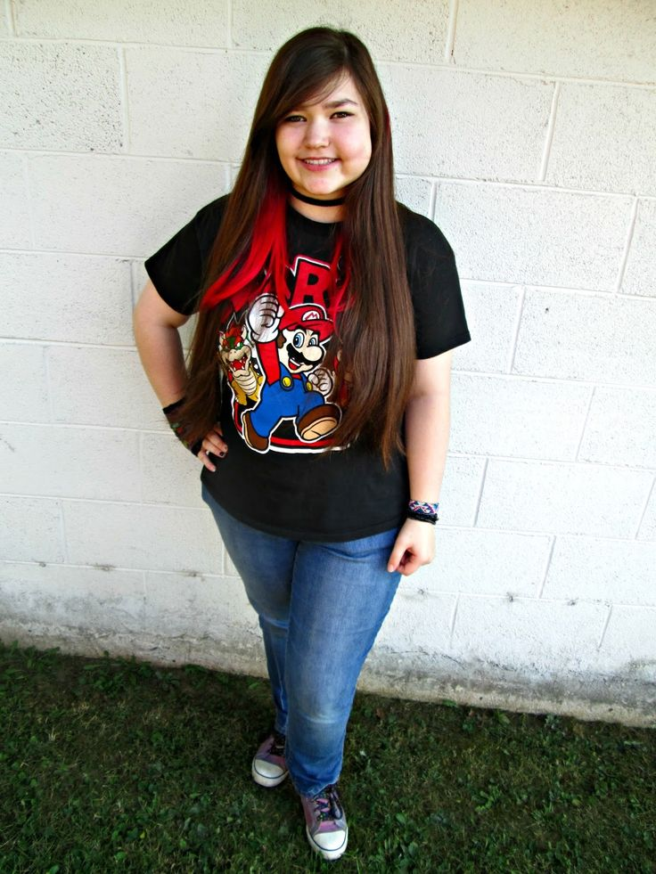 Unique Geek: Fashion With Liz: Mario #teenfashion #teenstyle #ootd #casualoutfit #mario #cutestyle #teenoutfit: