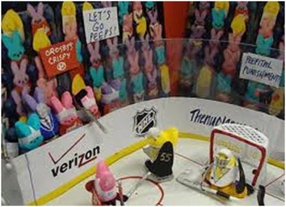 Peeps are hockey fans too! Fun easter craft.