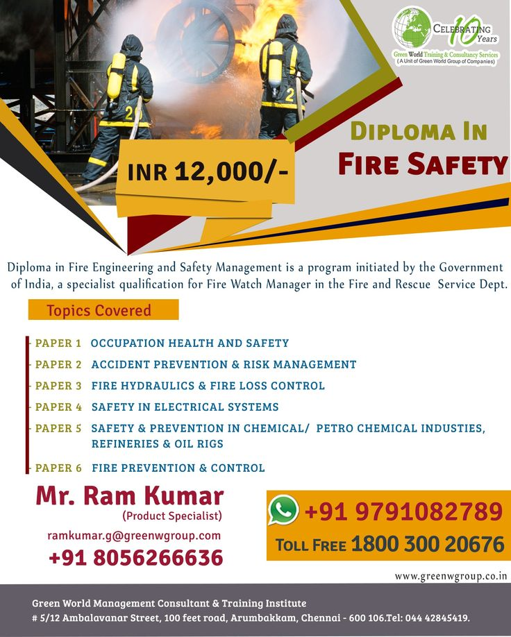 Health and safety by Greenworld saudi on Diploma in Fire