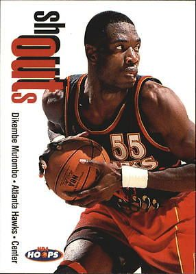 1998-99 NBA Hoops Shout Outs #20 Dikembe Mutombo Atlanta Hawks