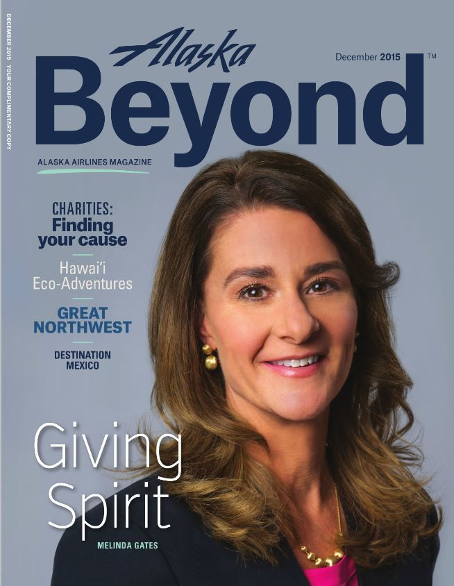 Melinda Gates, in our Africa Gold Drop Earrings and Africa Graduated Necklace. www.marcobicego.com