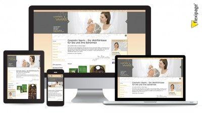 Cosmetic Vaaris, Bern, Flexipage, Responsive Webdesign, Internetauftritt