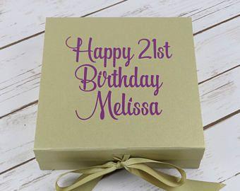 Personalizado de cumpleaños caja - regalo de cumpleaños caja - personalizado - regalo de cumpleaños - cumpleaños personalizado regalo - cumpleaños vacía caja de regalo