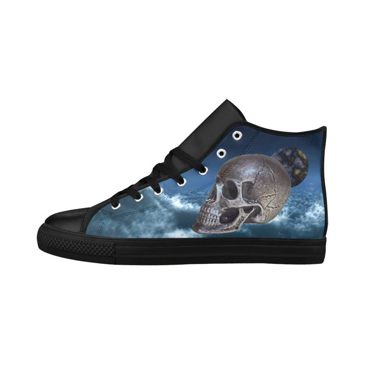 Skull and Moon Aquila High Top Action Leather Women