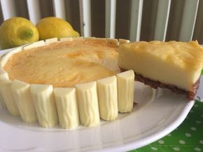 olles *Himmelsglitzerdings*: White Chocolate Cheesecake mit Lemon Curd Strudel
