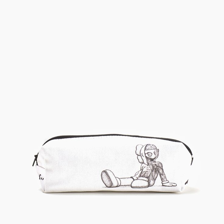 KAWS Pencil Case:  Pencil case designed by KAWS to accompany his 2016 exhibition at Yorkshire Sculpture Park.