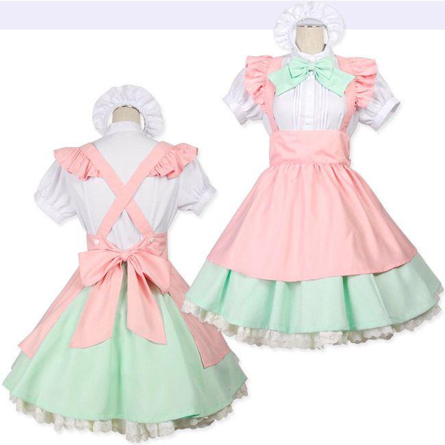 New Japanese Girl Maid Uniform Cosplay Lolita Costume Halloween Fancy Dress L #Unbranded #Dress