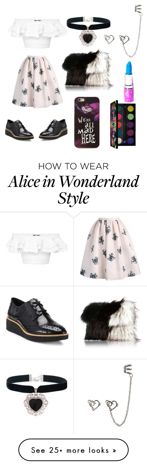 """Melanie Martinez inspired"" by maddykz on Polyvore featuring Alexander McQueen, Casetify, Disney, Lime Crime, Urban Decay, Rock 'N Rose, Rebecca Minkoff and River Island"
