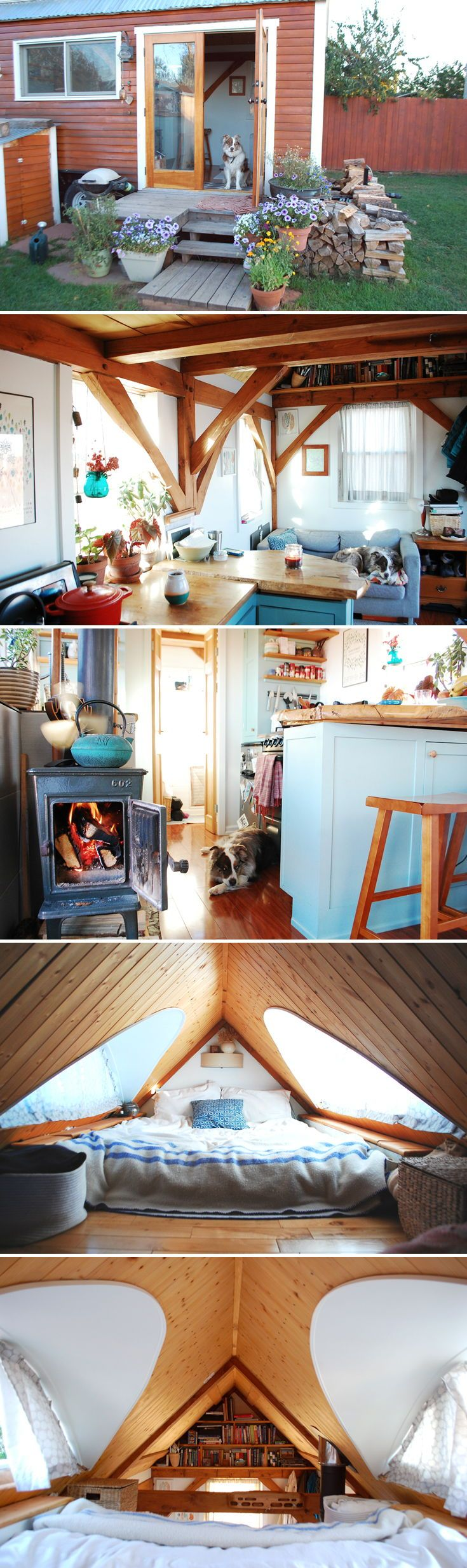The Tiny Timber House is an 18-foot tiny home built on wheels. It was self-built by Paul & Makenzie Benander and they have now been living in it full-time for over three years.