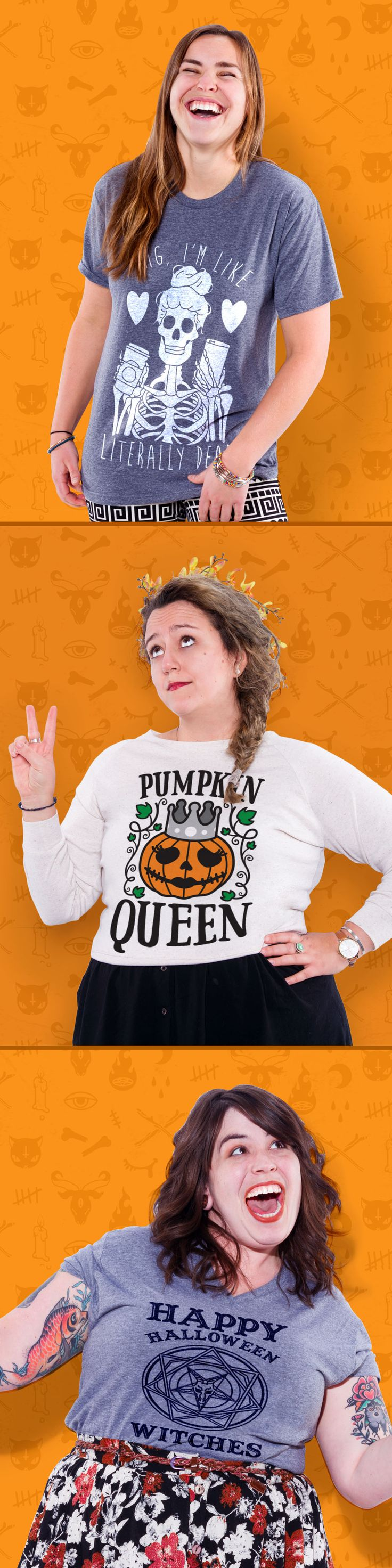 Check out our best halloween tees, tanks and sweatshirts! Trick or treat is almost here.