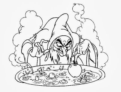 Snow White Coloring Pages - Witch 4