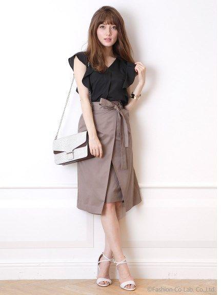 フロントレイヤードスカート(膝丈スカート)|JUSGLITTY(ジャスグリッティー)|ファッション通販 - ファッションウォーカー