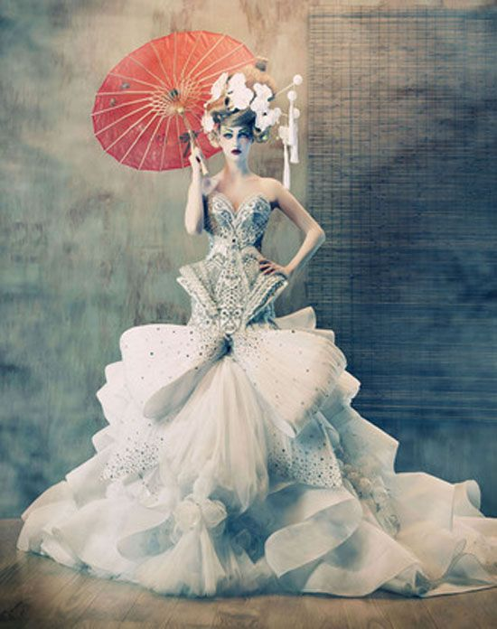 To Dream of Japan: fashion photography by Tina Patni for Amato Haute Couture - ego-alterego.com