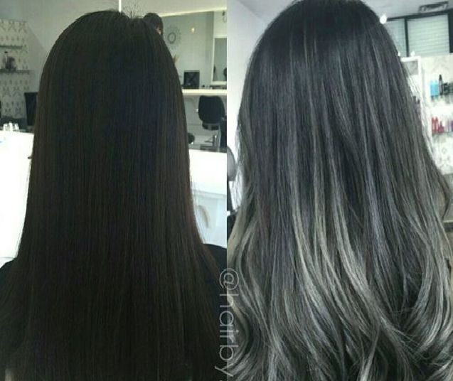 From Virgin black to ombre grey