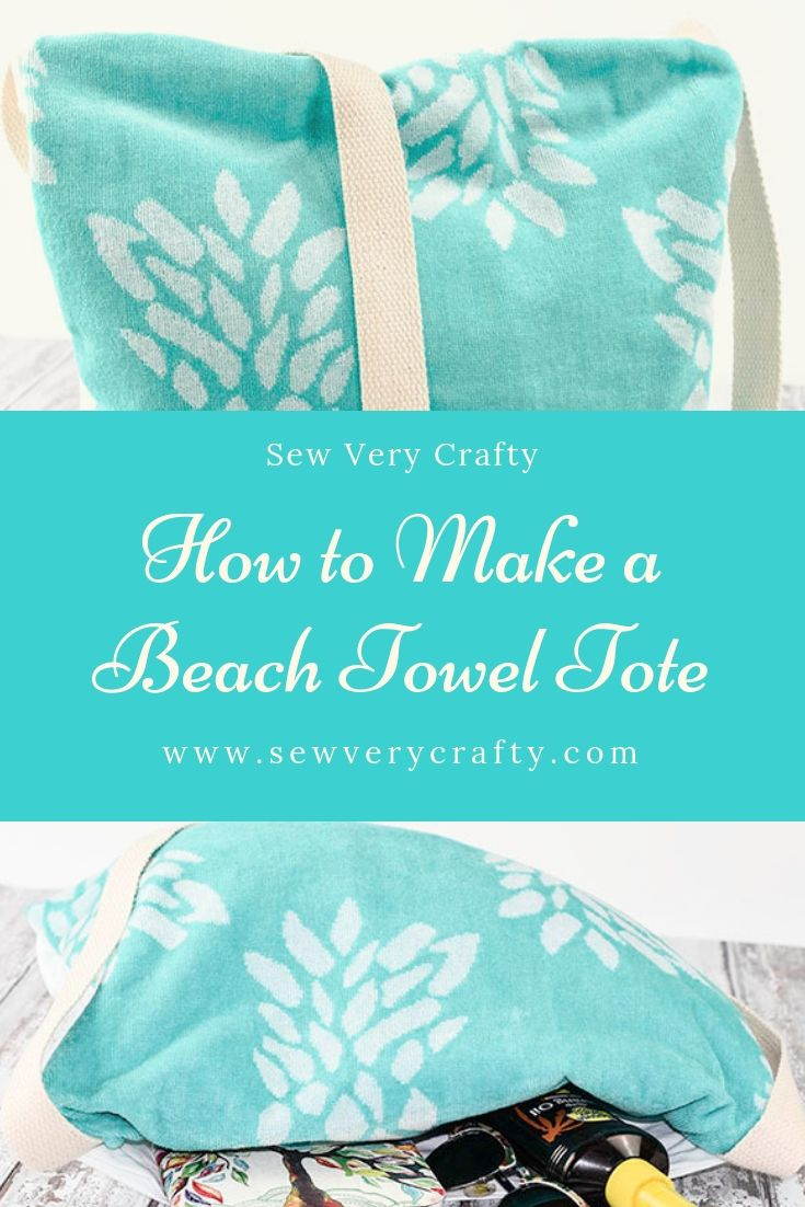 How To Make A Beach Towel Tote Easy Sewing Projects Sewing