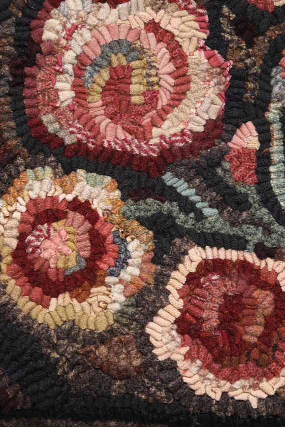 Cottage Garden Hooked Rug Pattern From Winter A