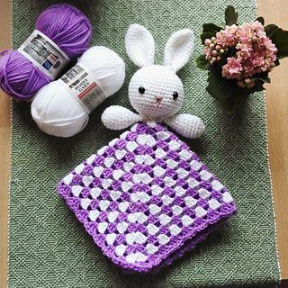 free pattern bunny lovey granny square