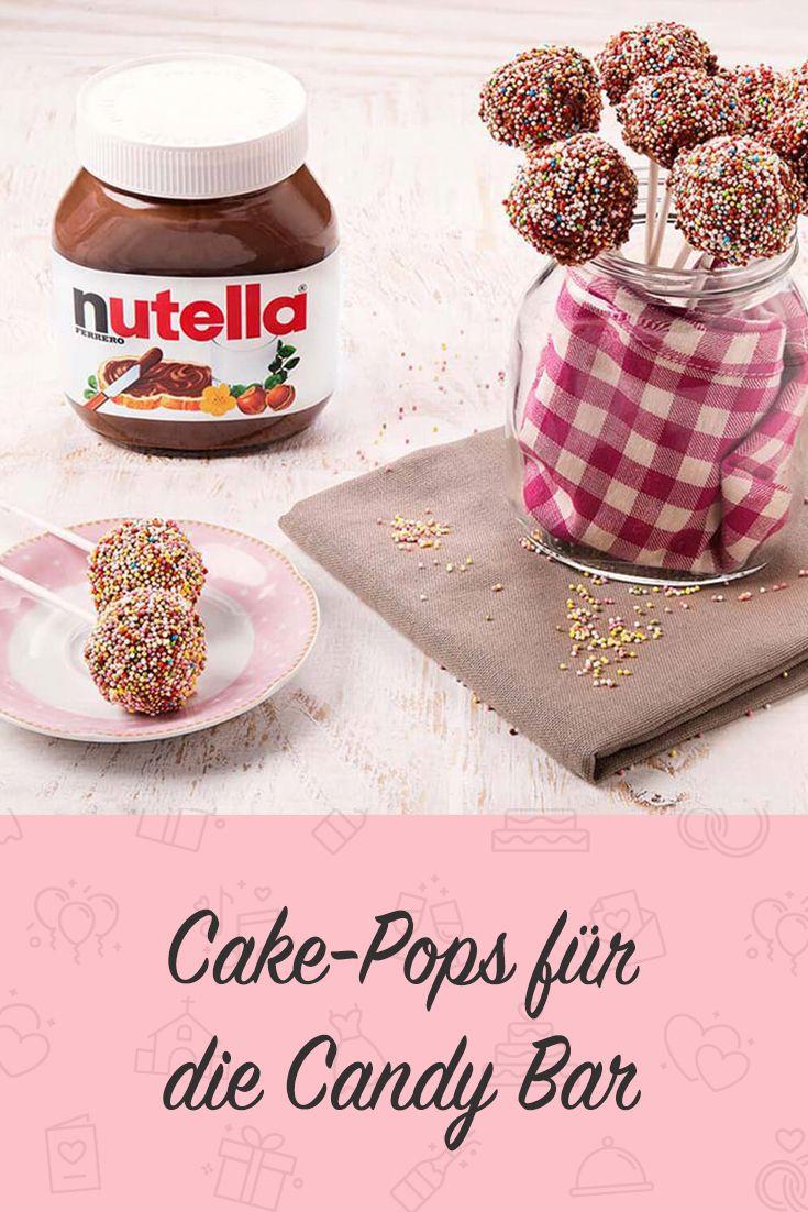 Nutella Cake Pops für den Schokoriegel. #cakepops #candybar #nutella #cakes #hoch …   – Ja, ich will – Alles für Deine Traumhochzeit