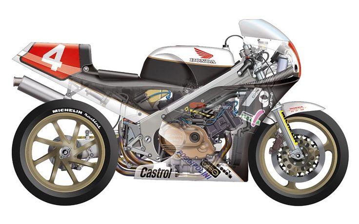 Honda RC30 Superbike - Cutaway view