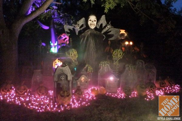 Halloween Decorating Ideas For The Yard The Home Depot Backyards Halloween Decorations And