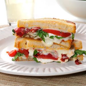 Grilled Goat Cheese  Arugula Sandwiches from Taste of Home -- shared by Jess Apfe of Berkeley, California