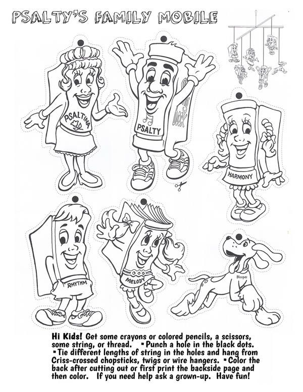 psalty coloring pages - photo#1