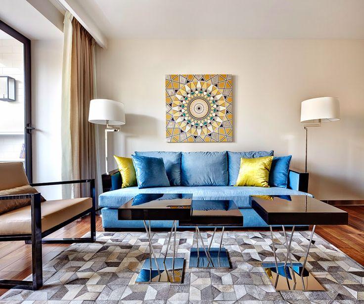 Die besten 25+ blau Schlafzimmer Dekor Ideen auf Pinterest - wohnzimmer blau gold