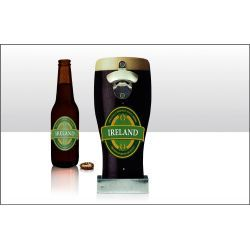 Wholesale Ireland Stout Pint Wall Bottle Openers - Elgate Wholesale - UK Giftware Importers - 70031 Ireland Irish Souvenirs Home Beer Drinking Bottle openers party Mens