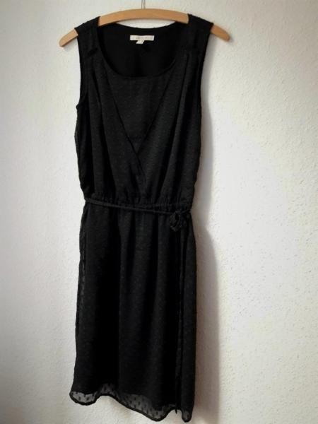 Kleid esprit schwarz weiss