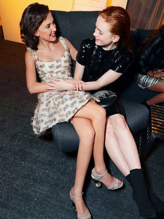 """""""Millie Bobby Brown and Sadie Sink at the Entertainment Weekly's Screen Actors Guild Award Nominees Celebration on January 20, 2018 in Los Angeles, California. """""""
