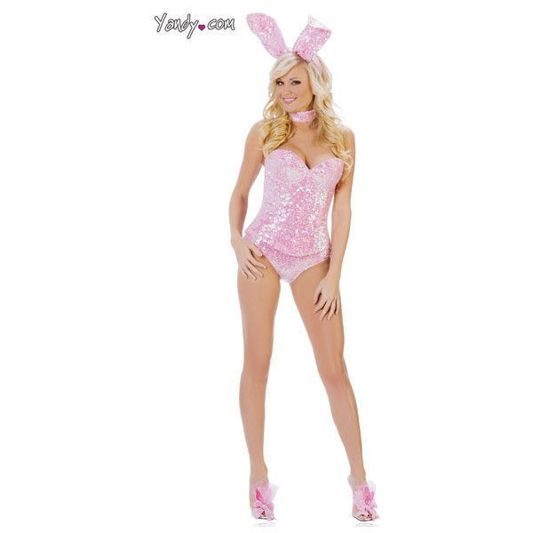 Pink Sequin Bunny Costume, Deluxe Bunny Costume, Pink Bunny Costume ($15) ❤ liked on Polyvore featuring costumes, costume, shoes, bunny rabbit costume, pink costumes, sequin costume, deluxe costumes and pink halloween costumes