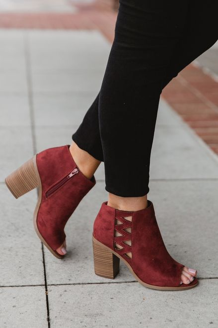 8551e82c552 Annabelle Cut Out Peep Toe Booties