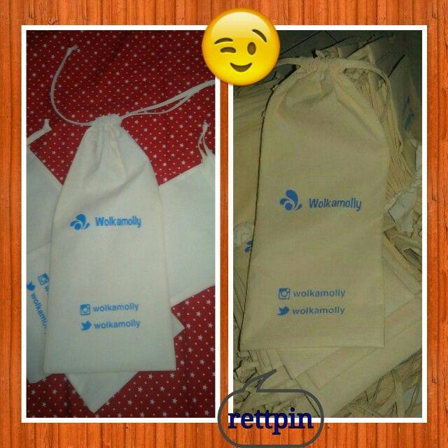Goodie bag spunbond wolkamolly for sandal packaging