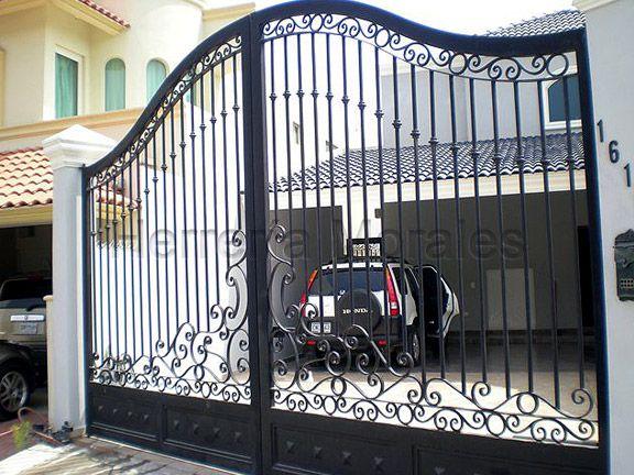 Herreria puertas y zaguanes pinterest for Puerta de herreria