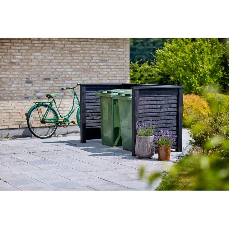 Dölj soptunnan med stil ett avfallsskjul Du kan gömma undan soptunnorna lite och ge huset ett trevligare utseende. PLUS plank är ett DIY-system där du kan