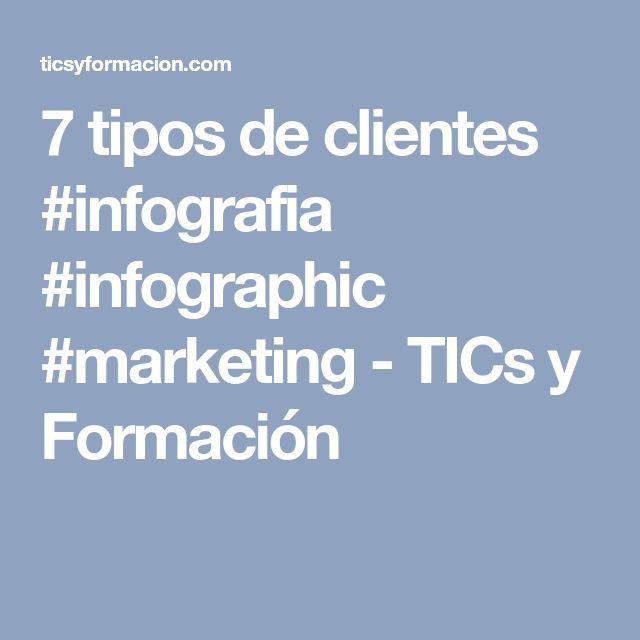 7 tipos de clientes #infografia #infographic #marketing - TICs y Formación