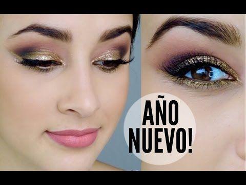 MAQUILLAJE AÑO NUEVO - DORADO !!! - YouTube