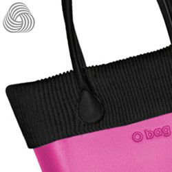 Black Woollen Trim - a finishing touch for the standard and velvet O bags.